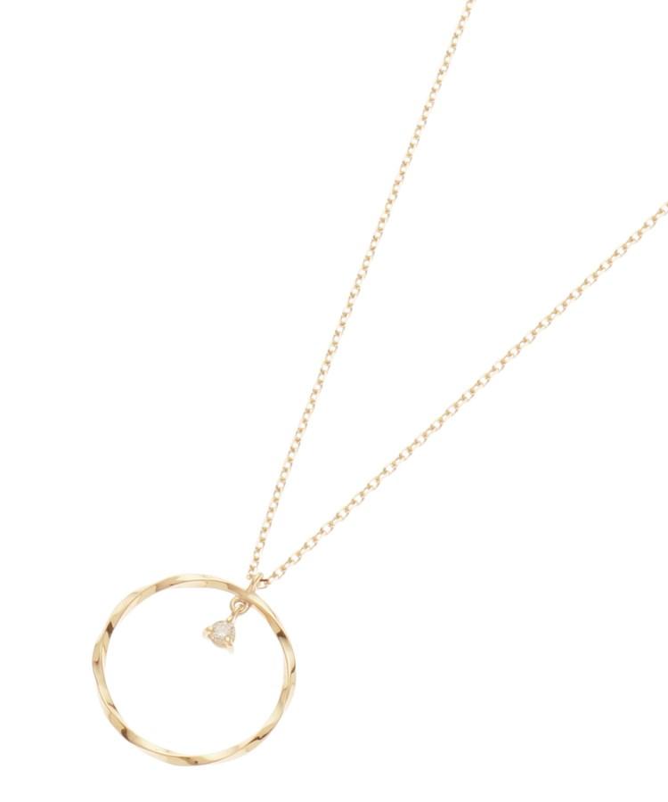 COCOSHNIK(ココシュニック)ダイヤモンド 三つ爪 ツイストフープ ネックレス