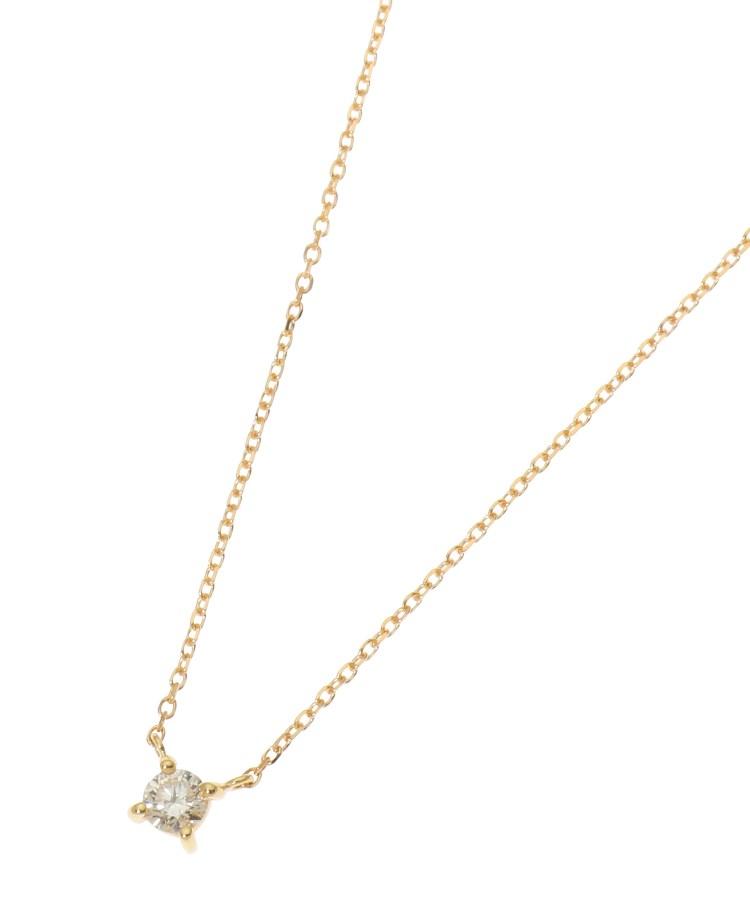 COCOSHNIK(ココシュニック)K18ダイヤモンド爪留め ネックレス