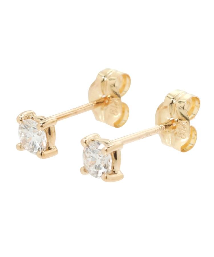 COCOSHNIK(ココシュニック)K18ダイヤモンド爪留め ピアス(大)