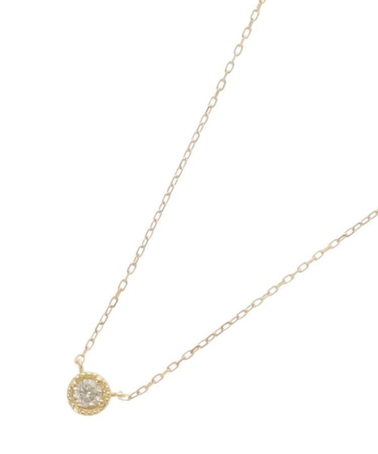 COCOSHNIK(ココシュニック)K18ダイヤモンド フチミル ネックレス(小)