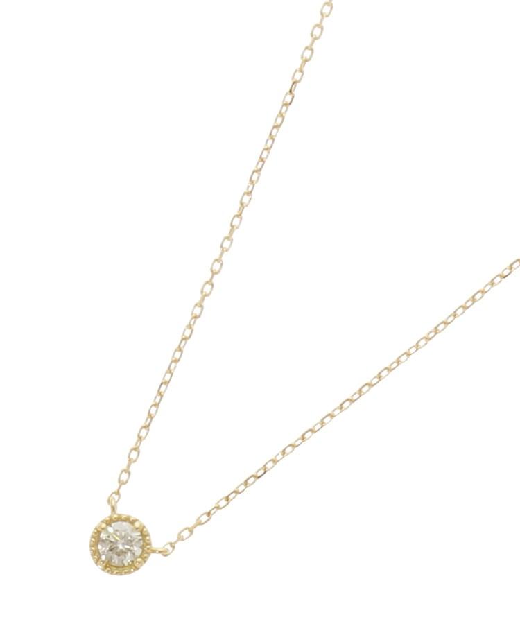 COCOSHNIK(ココシュニック)K18ダイヤモンド フチミルネックレス(大)
