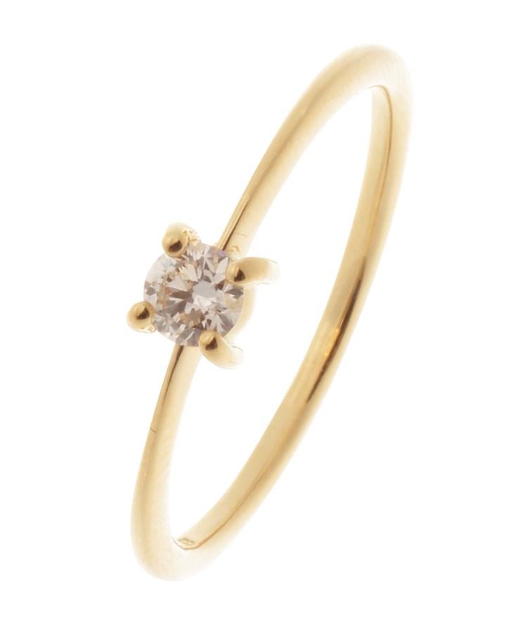 COCOSHNIK(ココシュニック)K18ダイヤモンド 4本爪 リング(大)