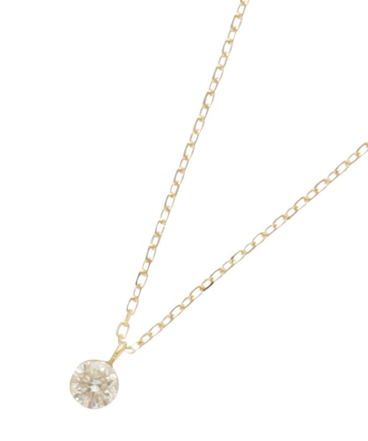 COCOSHNIK(ココシュニック)K18ダイヤモンド シークレット留め スルーネックレス