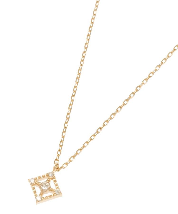 COCOSHNIK(ココシュニック)ダイヤモンド フチミル透かしひし形 ネックレス