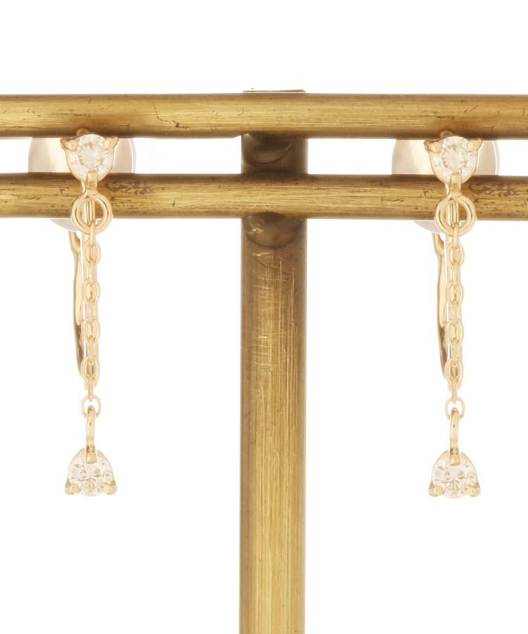 COCOSHNIK(ココシュニック)ダイヤモンド チェーンイヤリング