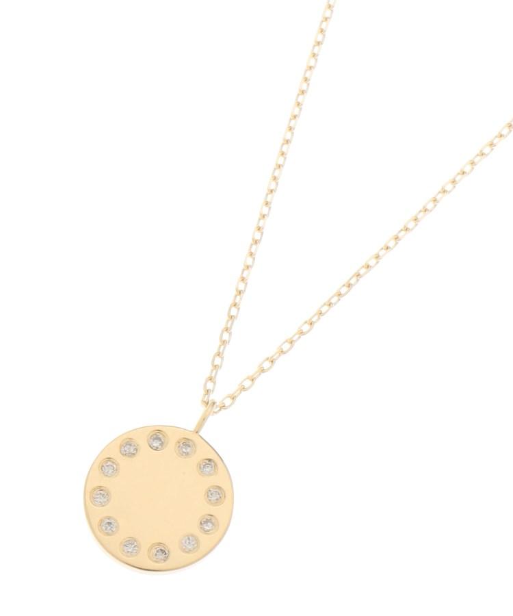 COCOSHNIK(ココシュニック)ダイヤモンド コインモチーフ ネックレス