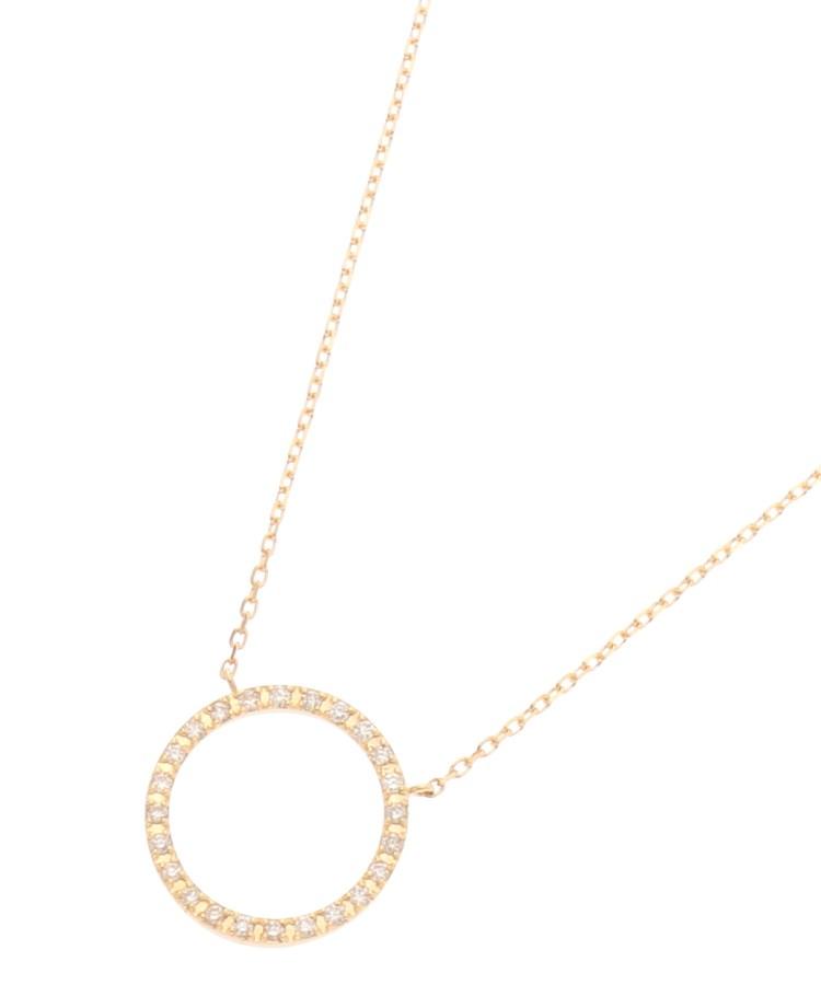 COCOSHNIK(ココシュニック)K18ダイヤモンド サークル ネックレス(大)