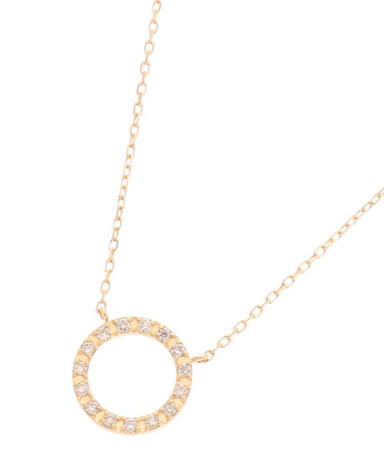 COCOSHNIK(ココシュニック)K18ダイヤモンド サークル ネックレス(小)