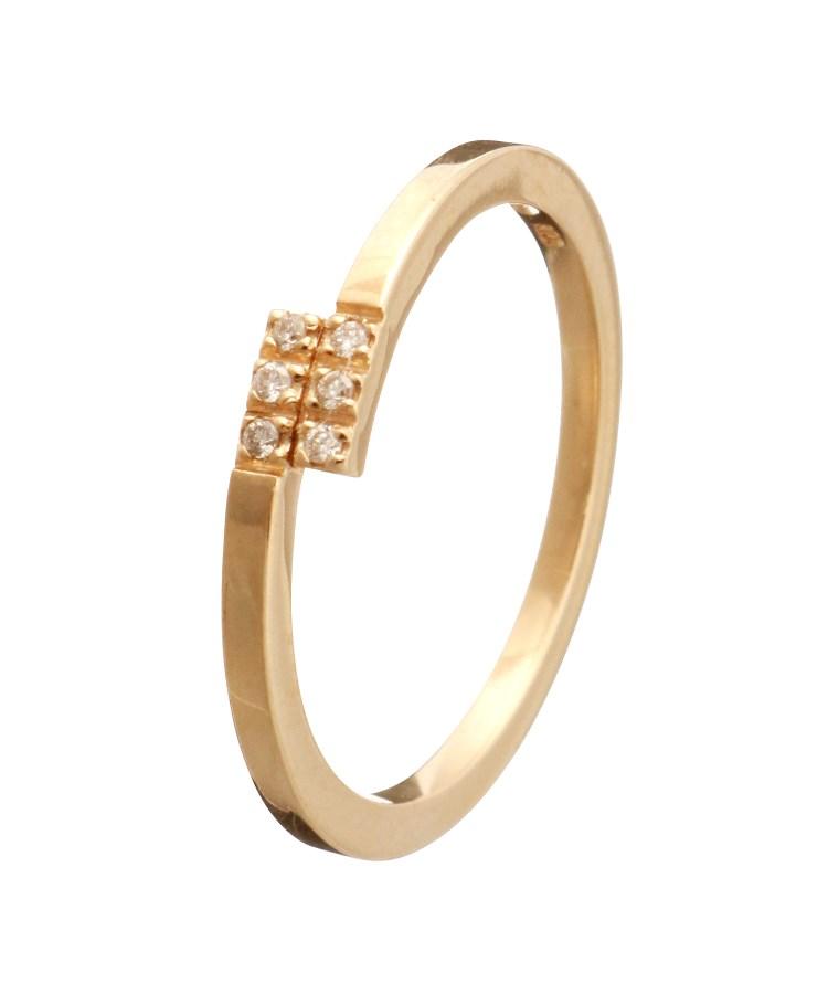 COCOSHNIK(ココシュニック)ダイヤモンド オーバーラップ ピンキーリング