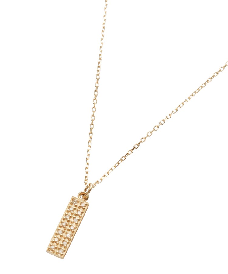 COCOSHNIK(ココシュニック)ダイヤモンド レクタングルパヴェ ネックレス
