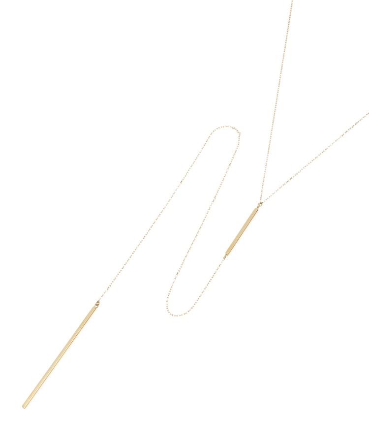 COCOSHNIK(ココシュニック)Y字ダブルバー スライドネックレス