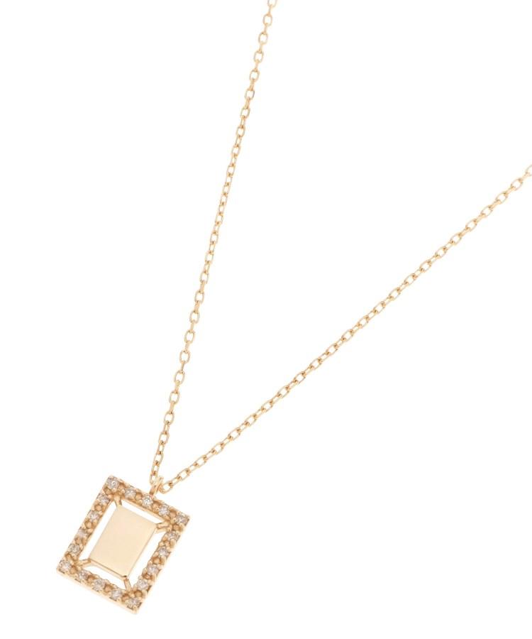 COCOSHNIK(ココシュニック)ダイヤモンド スクエア 取巻きネックレス
