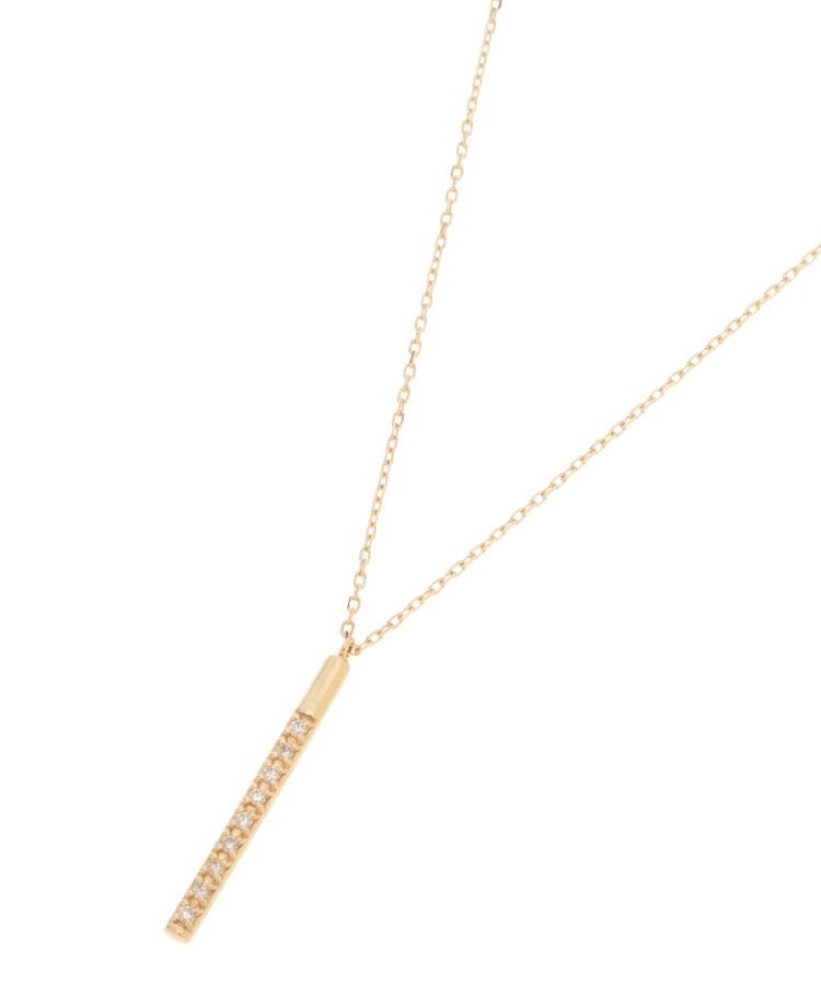 COCOSHNIK(ココシュニック)ダイヤモンド オーバルバー ネックレス
