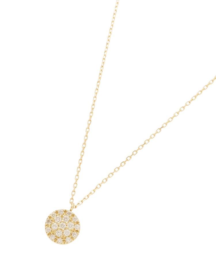 COCOSHNIK(ココシュニック)K18ダイヤモンド クラスター取巻きネックレス 大