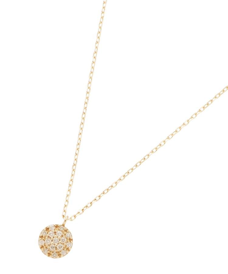COCOSHNIK(ココシュニック)ダイヤモンド クラスター取巻きネックレス