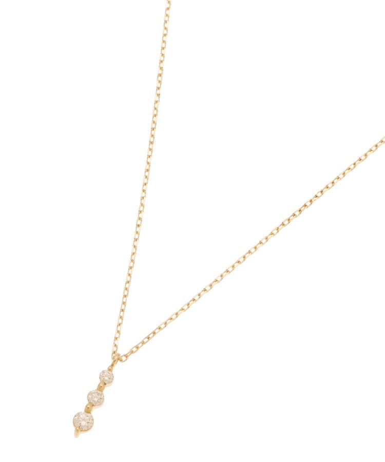 COCOSHNIK(ココシュニック)ダイヤモンド 伏せ込みトリロジー ネックレス