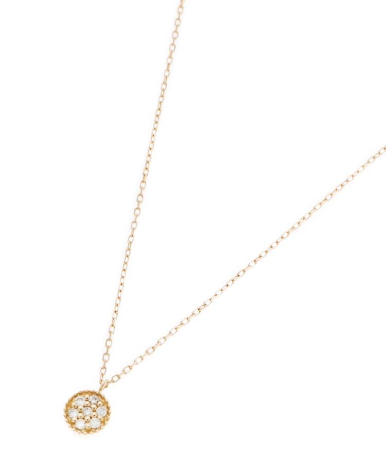 COCOSHNIK(ココシュニック)K18ダイヤモンド 玉爪パヴェネックレス