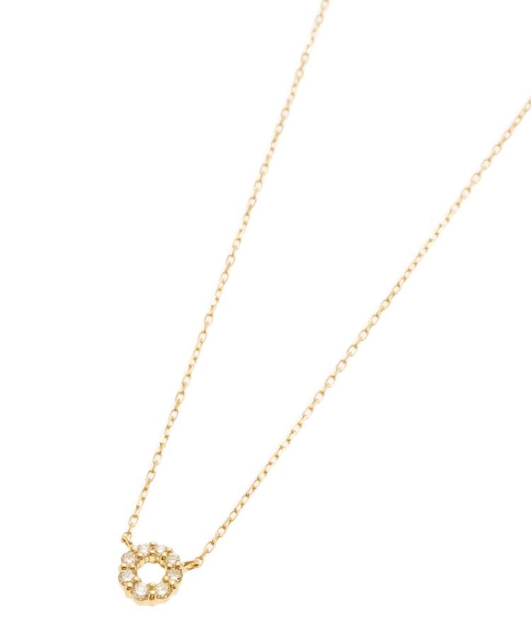 COCOSHNIK(ココシュニック)K18ダイヤモンド グラデサークル ネックレス小