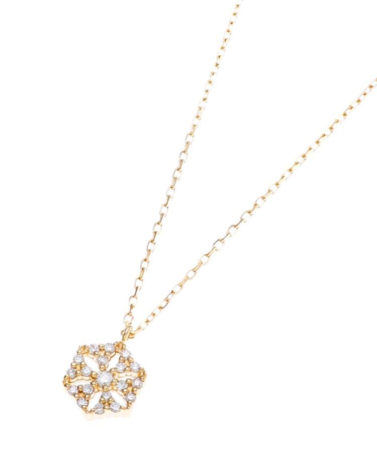 COCOSHNIK(ココシュニック)ダイヤモンド 透かしヘキサゴン ネックレス