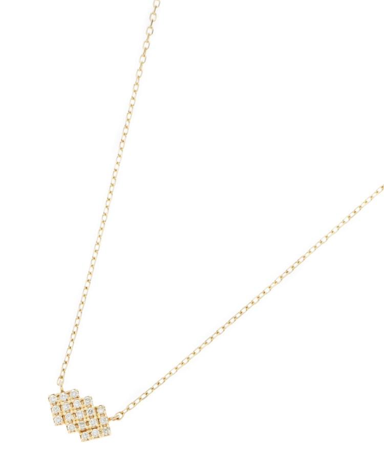 COCOSHNIK(ココシュニック)ダイヤモンド トリプルスクエア ネックレス