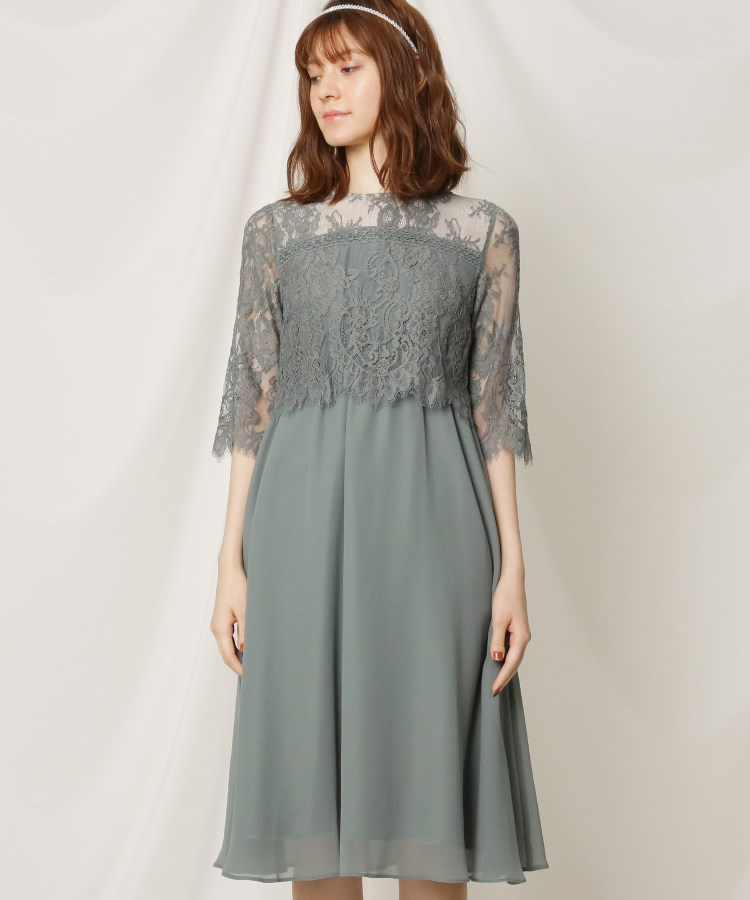Couture Brooch(クチュールブローチ)【結婚式/セレモニー】レース刺しゅうワンピース