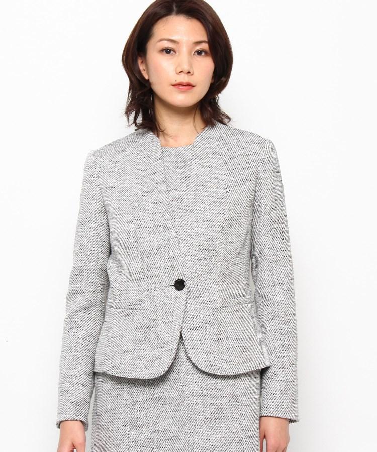 ≪スーツ,ジャケット(単品)≫ Modify(モディファイ)ミクシーツィードカラーレスジャケット