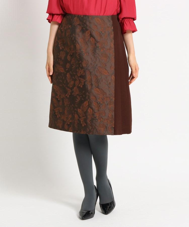 SunaUna(スーナウーナ)【洗える】ジャカードボタニカルスカート