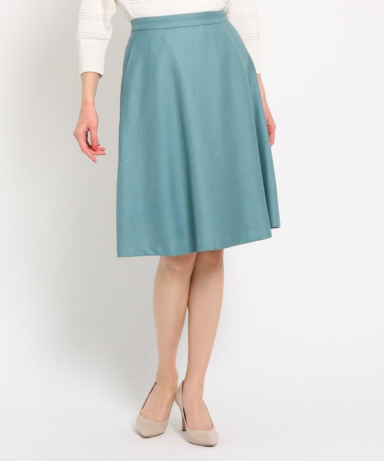 SunaUna(スーナウーナ)【洗える】淡色カラーフレアスカート