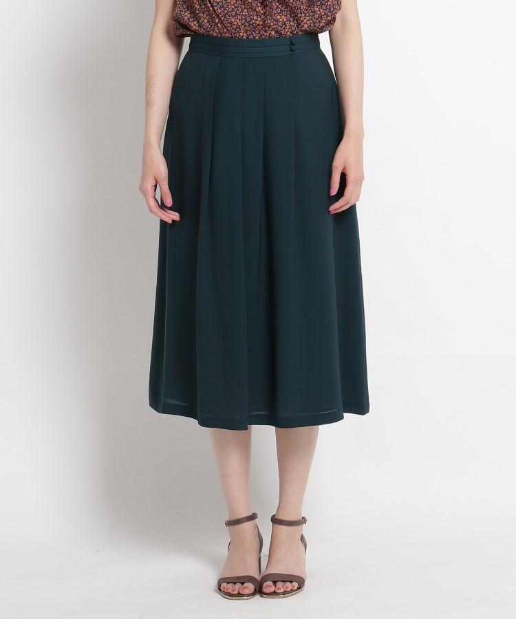 SunaUna(スーナウーナ)【洗える】キュプラツイルミモレ丈スカート