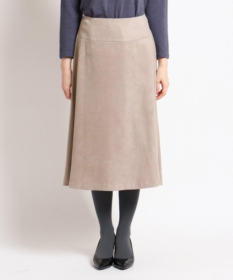 SunaUna(スーナウーナ)フェイクスウェードフレアスカート