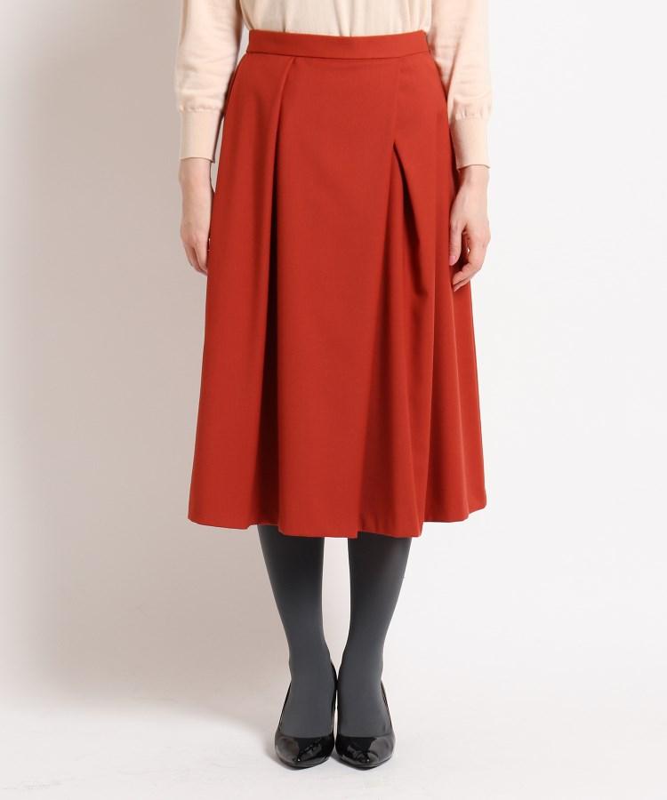 SunaUna(スーナウーナ)【洗える】ストレッチタックフレアスカート