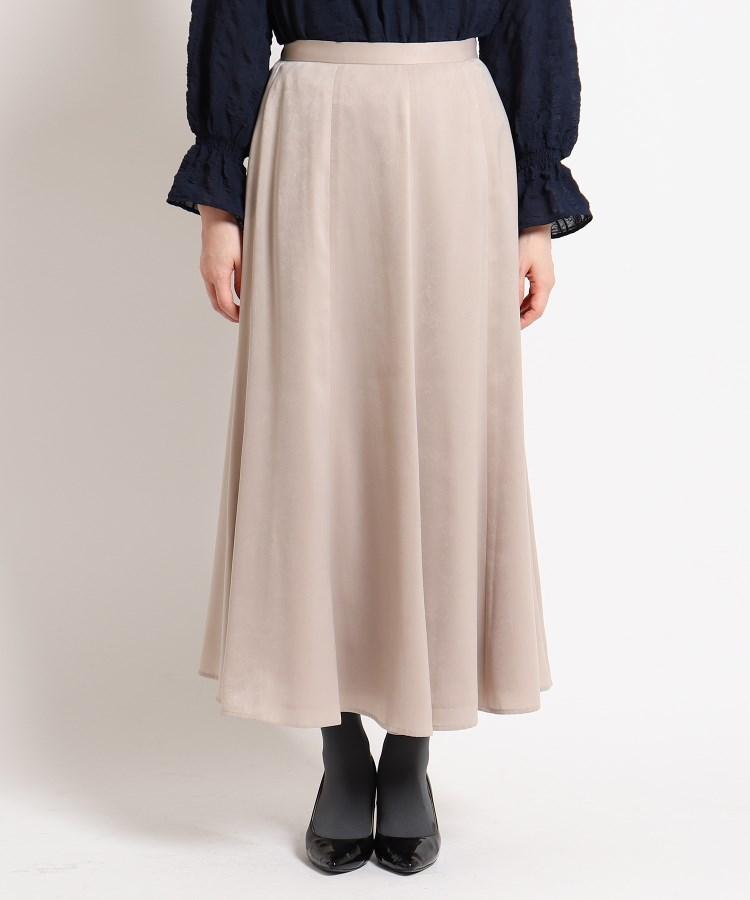 SunaUna(スーナウーナ)【洗える】ピーチサテンロングスカート