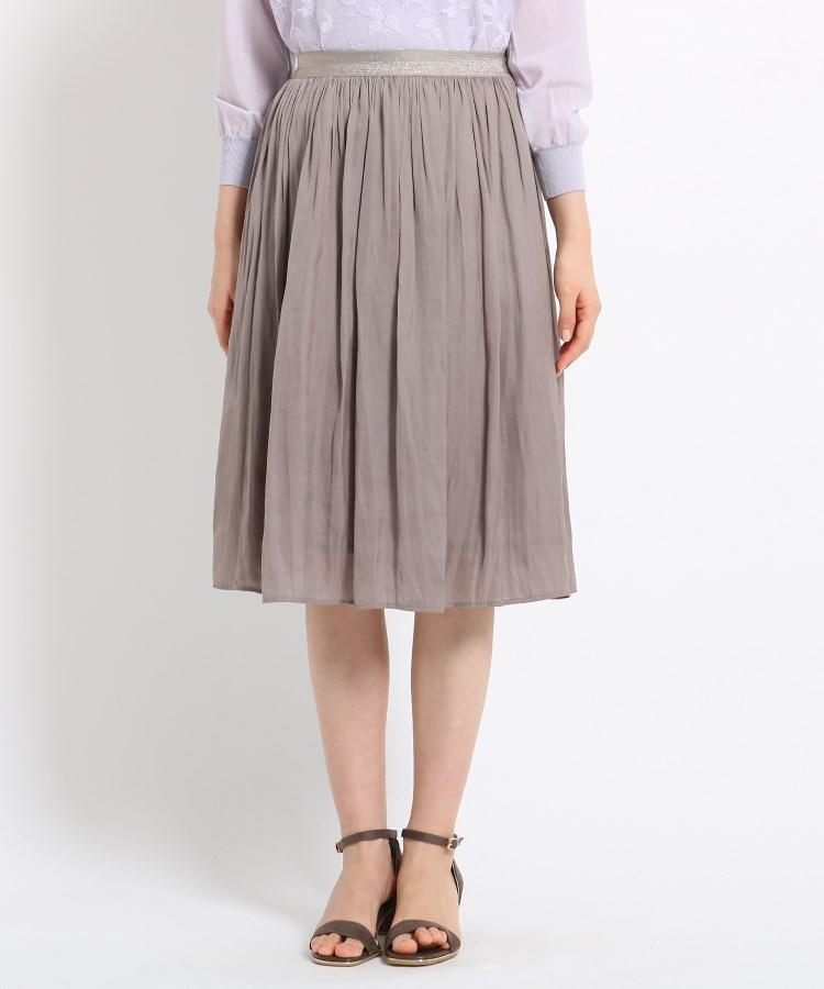 SunaUna(スーナウーナ)【洗える】マットサテンギャザースカート