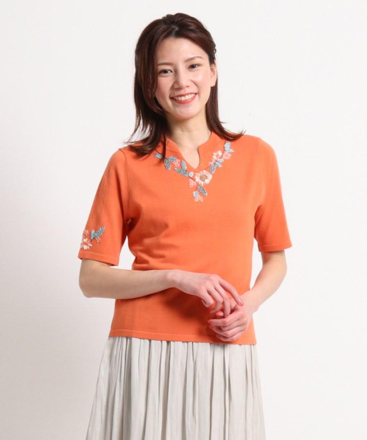SunaUna(スーナウーナ)【洗える】ロアンヴァイン刺繍プルオーバー