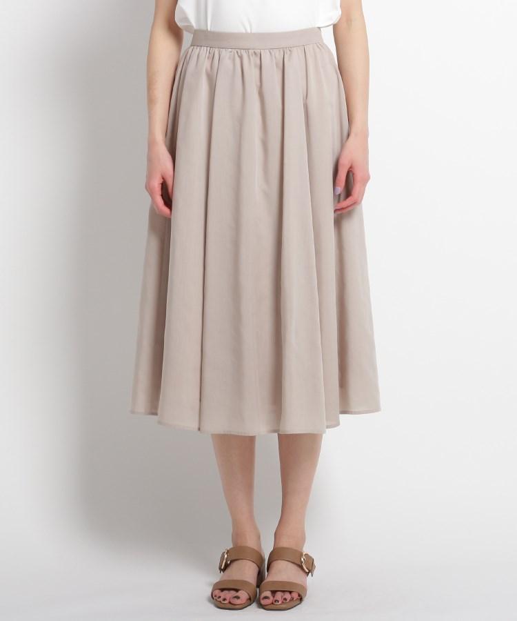 SunaUna(スーナウーナ)【洗える】ギャザータックフレアスカート