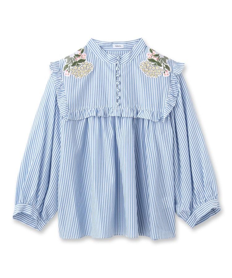 anatelier(アナトリエ)haupia フリルストライプシャツ