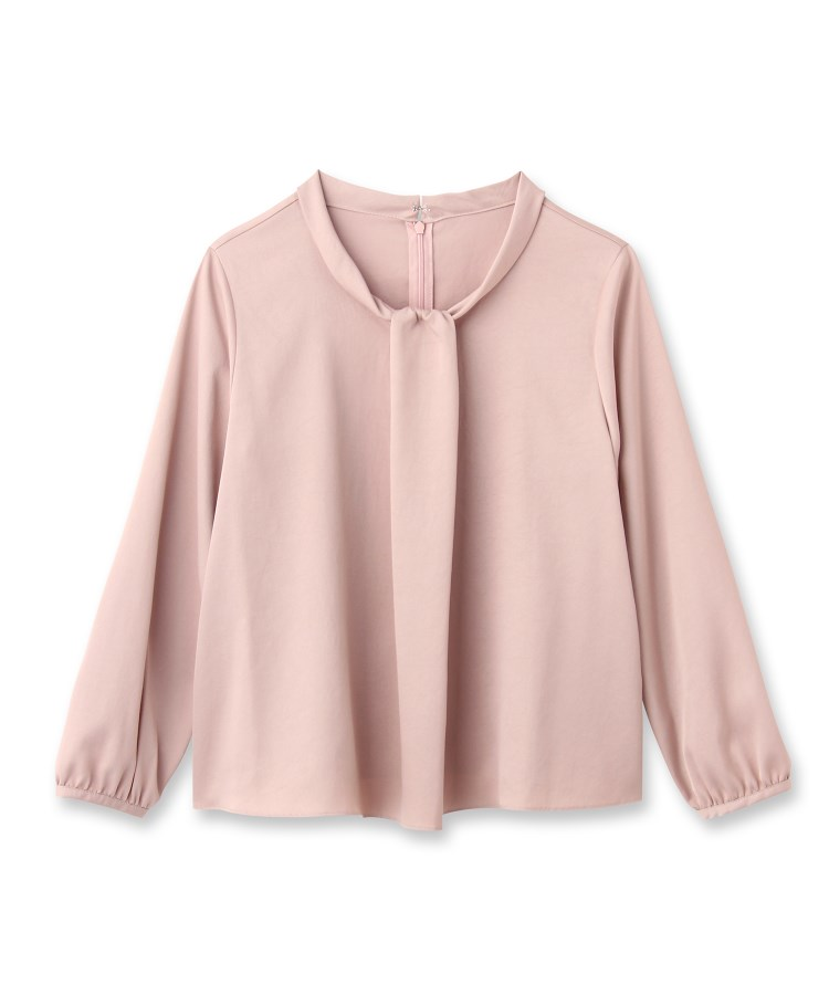 anatelier(アナトリエ)cannelle ボウタイ風ロールネックシャツ