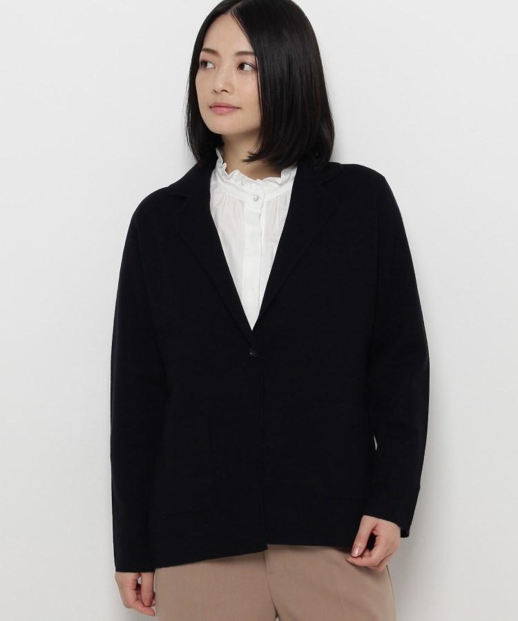 esche(エッシュ)◆ワンボタンニットジャケット
