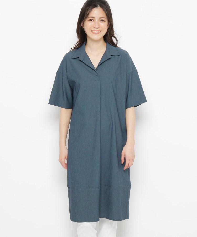 esche(エッシュ)スキッパーシャツ襟ワンピース