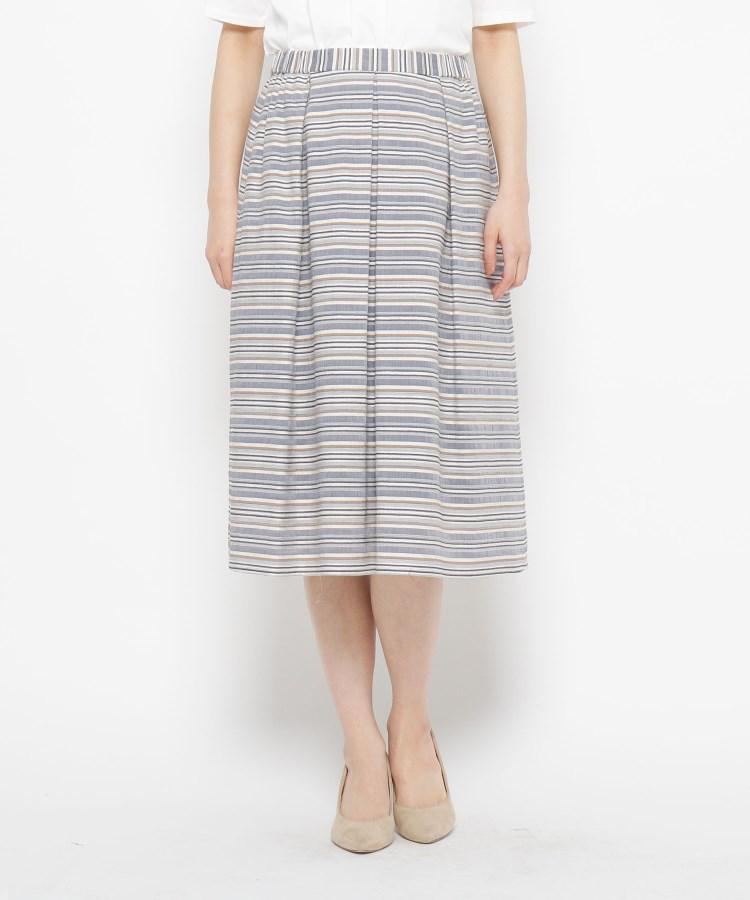 esche(エッシュ)コットンベースランダムボーダースカート