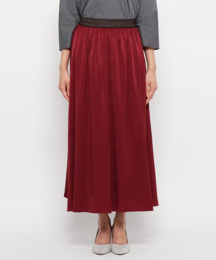 smart pink(スマートピンク)【手洗い可】ヌバッキー微起毛ロングスカート