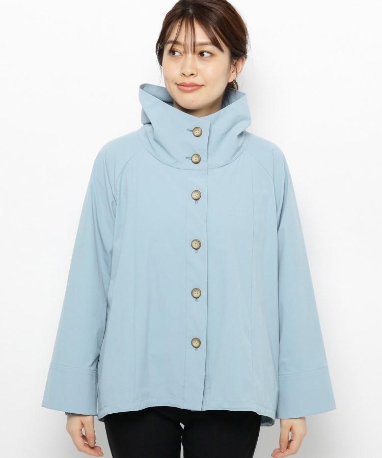 smart pink(スマートピンク)【手洗い可】フード付きAラインジャケット