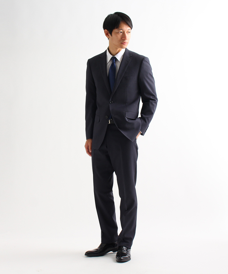 THE SHOP TK(Men)(ザ ショップ ティーケー(メンズ))【洗濯機OK】ストレッチ/マイクロピンストライプスーツ