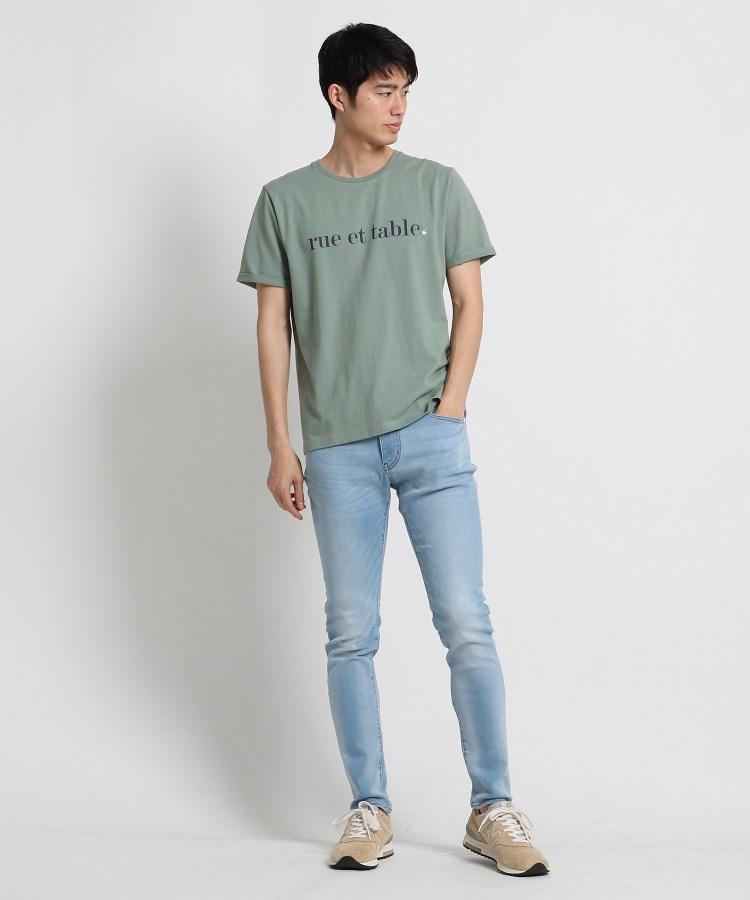 THE_SHOP_TK(Men)(ザ_ショップ_ティーケー(メンズ))通販 コットンロゴ刺しゅうTシャツ