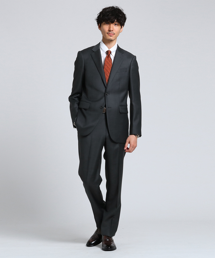 TAKEO KIKUCHI(タケオキクチ)シャイニーシャークピンヘッドスーツ[ メンズ スーツ アレンジ可能]