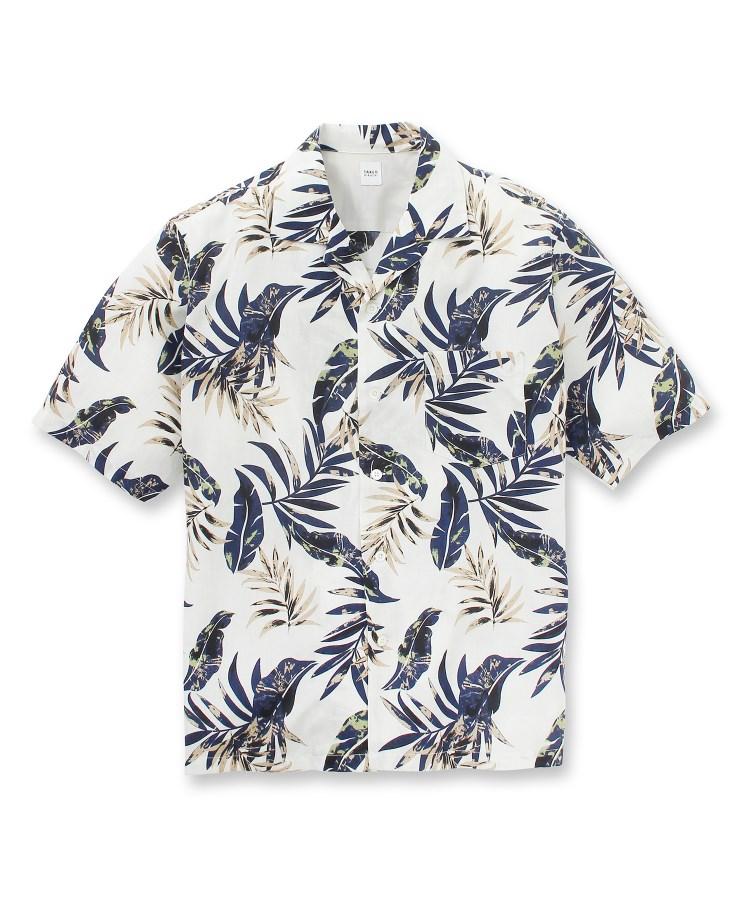 TAKEO KIKUCHI(タケオキクチ)【大きいサイズ】ボタニカルプリントシャツ