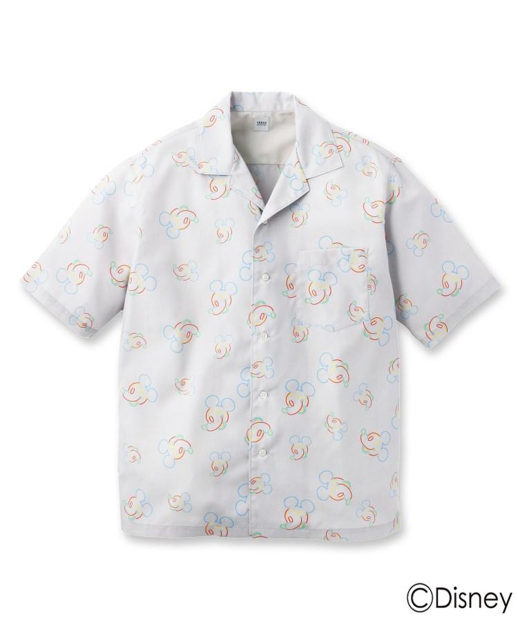 TAKEO KIKUCHI(タケオキクチ)【Sサイズ~】【ミッキーマウス】ネオンオープンカラーシャツ