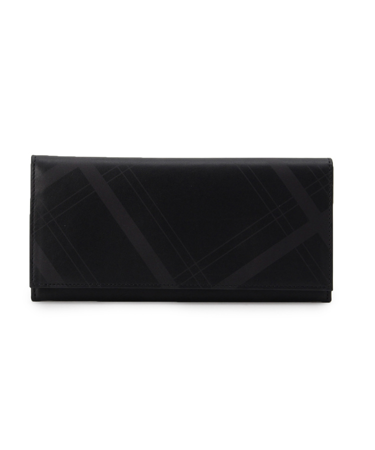 TAKEO KIKUCHI(タケオキクチ)【日本製】格子「KOUSHI」プリント長財布