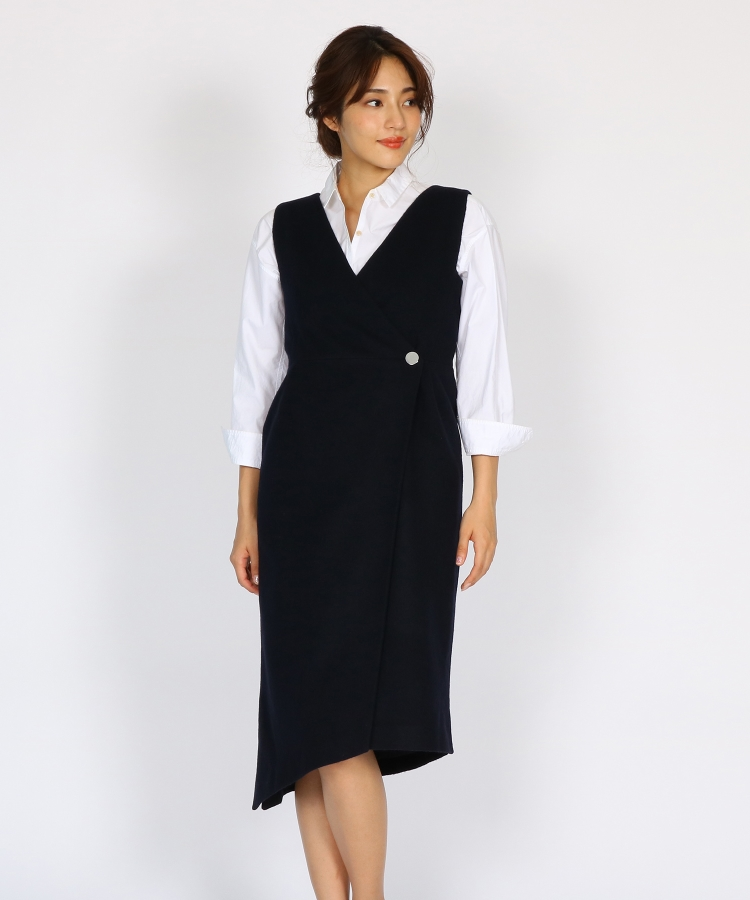 aquagirl/l'epicerie(アクアガール/レピスリー)イレギュラーヘムジャンパースカート