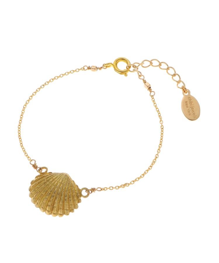 JET(ジェット)chibi jewels 貝殻モチーフ チェーンブレスレット